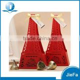 Red Color of Laser Cut Gift Box