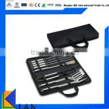 charcoal bbq grill tool set with canvas bag