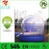 Giant inflatable snow globe ball dome for weddings, road shows, product launches
