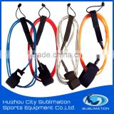Various of Color, PU Cord Solid, Surf Leashes With Brass/ Stainless Steel Swivel/Silk Printing Gard, Embroidery Logo
