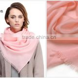 Wholesale Solid Color Twill Alpaca Girls Wool poncho