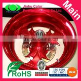 Car rim powder coating candy red powder paints