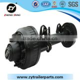 BPM Trailer axle series high quality Germany axle for sale/Germany Axle 16t Semi- trailer Bogie Suspension