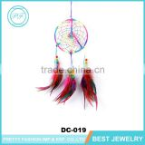 Yiwu Factory Direct Sales Feathers Wall Hanging Decoration Dream Catcher, Metal Round Wood Beads Handmade Lucky Dream Catcher