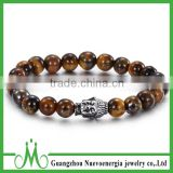 Mens tiger eye bracelet trend 2016 charm design tiger eye stone bracelet with buddha bracelet