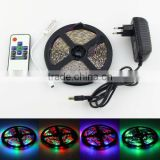 5m 3528 SMD RGB 300 LED Strip Light Lamp+10 Key RF Remote+12V 2A Power Adapter