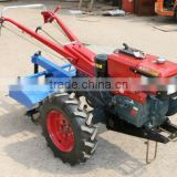 12hp walking tractor,moto cultor,diesel engine,with Double plough,Tralier(one ton),Water pump,Seeder(4 lines),