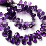 Amethyst Micro Faceted Pear Shape Briolettes,6-7mm