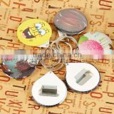 Hot Sale 44 mm Plastic Button Badge Bottle Opener with key chain