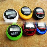 mini portable multifunctional solar power pedometer with belt clip