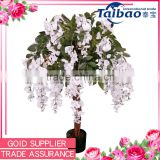 Artificial plants factory sale 1.7 meters wedding white wisteria trees