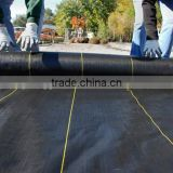 black weed mat pe /pp woven fabric agricultural ground sheet cover usage to control grass growing