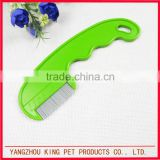 Nit free terminator stainless steel teeth plastic colorful lice comb