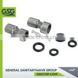 GSG FAC124 Chrome Brass Thread Fitting With Rubber Gasket For Bathroom Accessories