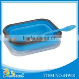 Wholesale popular collapsible leakproof silicone bento lunch box                                                                         Quality Choice