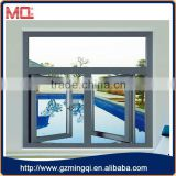 Duoble panel opening awning window curtain
