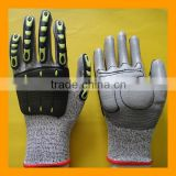 Protective TPR Impact Resistant Cut 5 Gloves