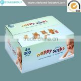 Disposable Plastic bags for baby Customized Colors Baby Nappy Sack