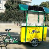 2015 new design solar ice cream freezer bike solar portable rechargeable battery bicycle freezer solar freezer with tricycle