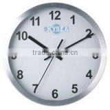 8 inch metal decorative wall mounted clock, round clock design