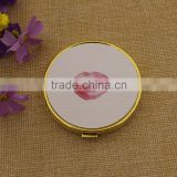 Sexy lips pocket mirror/ pu leather mirror pocket/ golden border makeup compact mirror wholesale                                                                                                         Supplier's Choice