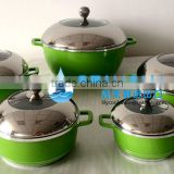 10 Pcs DESSINI Die-Casting Aluminum ceramic casserole set/pot set/casserole/stock pot set