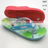 Pretty design EVA thick sole flip flops for ladies