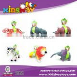 Hight quality lovely cartoon pvc cartoon zoo animal toys for babies