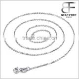 Fashion Decorative Womens Pure 925 Sterling Silver Rolo Style Cable Italian Chain Necklace