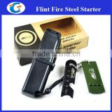 emergency fire starter ferro rod with multi striker - black