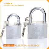 Number Ones!!Unique Brass Cylinder Chrome Plated Iron padlock,Useful Door Lock With Cheap price