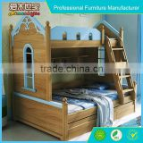 new design high quality kids wooden bunk bed