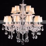 White Glass Coloured Chandelier Parts Crystal Pendant Lights
