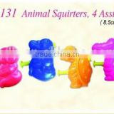 EN71 Summer Beach water gun Animal Squirters, 4 Asst