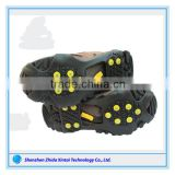 Black Anti-slip Pair Ice Snow Shoe Spikes Grips climbing holds