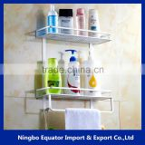2 tiers wholesale detachable bathroom hanging shower rack/mini size storage shelf 12cm-wide
