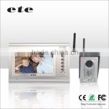 "ETE 7"" LCD long range gsm cordless phone video door phone"