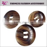 custom high quality 2 holes real ox horn button