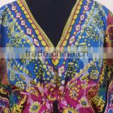 Beautiful design printe new elegant printed styles for womens kaftans & ponchos