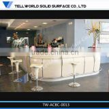 TW 100% acrylic led bar table/solid surface led bar furniture/illuminated led bar counter