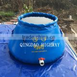 Flexible PVC coated material fire fighting water tank