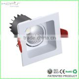 12W Ultrathin Pure Aluminium LED Downlight Dimmable / Top Quality LED Square Ceiling Light