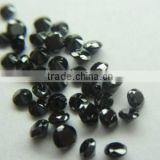Natural loose black diamond round brilliant cut Indian Manufacturer