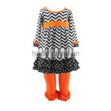 2016 Kaiyo halloween costumes china wholesale oem service clothes chevron ruffle dress and pants halloween outfits for girls