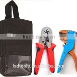 Combination tool kit bag with self-adjustable crimping plier&cable stripper multifunctional application crimping tool set