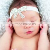 Baby Toddler Infant Crystal Bowknot Headbands Hair Band Simple Soft Diamond Fabric Bow headband for baby