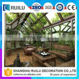Modern European design prefabricated sunrooms, prefabricated glass house,garden sun rooms