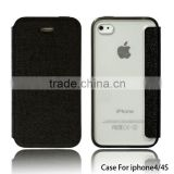 Popular style wallet leather case cover pouch for apple iphone 4s