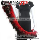 ZPDECOR Fashion Plume Chicken Plumage Wholesale Cheap Natural Red Half Bronze Rooster Schlappen Feathers Strung