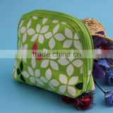 custom handmade jacquard material comestic bag with zipper